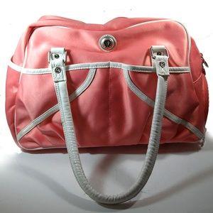 Lululemon Pink satin ballerina/boot camp bag
